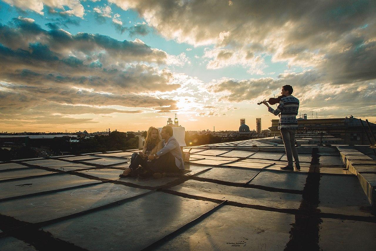 свидания на крышах СПб